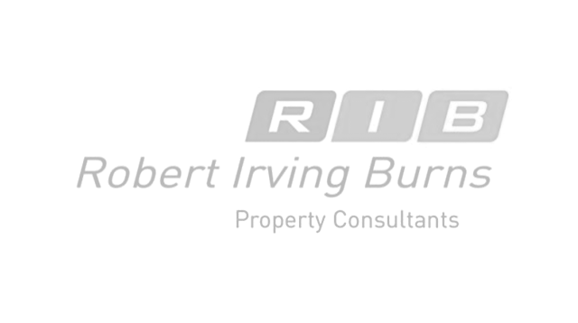 Logo robert irving burns grey